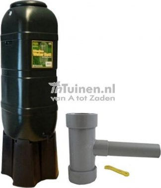 Regentonset Slimline 100L groen incl. voet + vulautomaat
