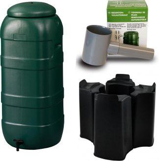 Harcostar Rainsaver Regenton 100 Liter Groen met Vulautomaat en Voet