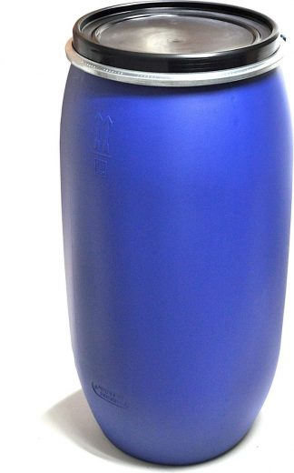 120L Dekselvat Spanring - Blauw - UN